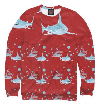 Одежда с принтом Большая акула