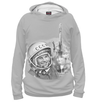 Худи женское Юрий Гагарин Восток 1