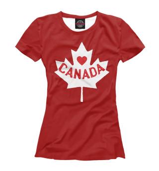 Футболка женская Canada