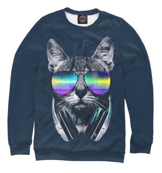 Одежда с принтом Кот с наушниками