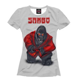 Футболка женская SAMBO СССР