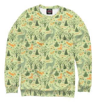 Одежда с принтом Летний лес