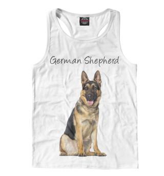 Майка борцовка мужская German Shepherd (5793)