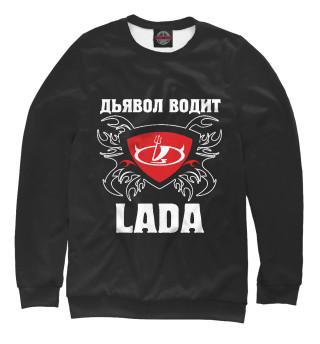 Одежда с принтом Дьявол водит Lada (301201)
