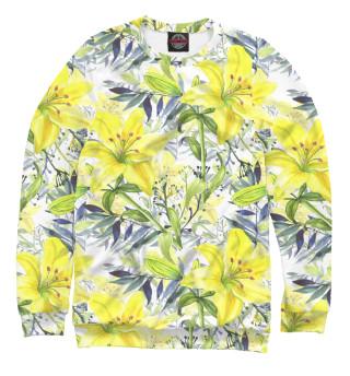Одежда с принтом Жёлтые лилии