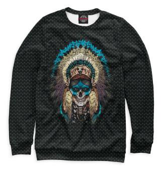 Одежда с принтом Череп шамана