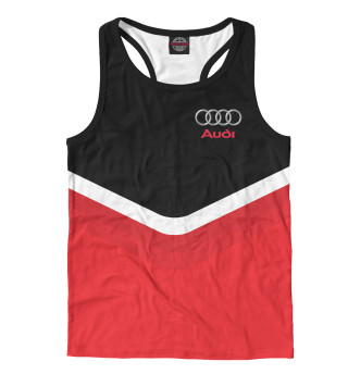 Майка борцовка мужская Audi Black & Red