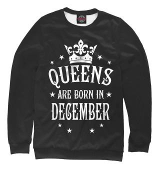 Одежда с принтом Королевы рождаются в декабре (254067)