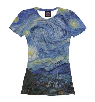 Футболка женская Звездная ночь - Ван Гог Винсент