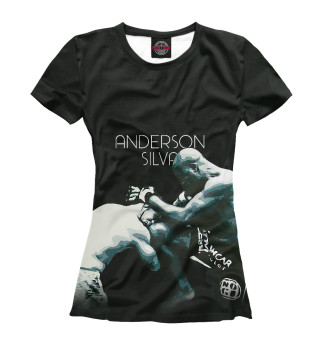 Футболка женская Anderson Silva - Knee Kick