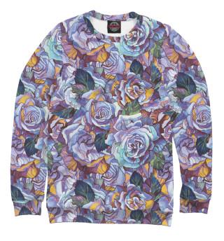 Одежда с принтом Фиолетовые розы