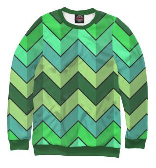 Одежда с принтом Retro green