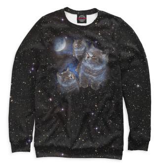 Одежда с принтом Котики в космосе