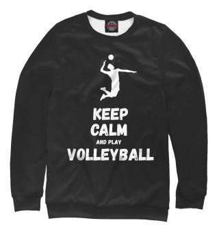 Одежда с принтом Keep calm and play volleyball