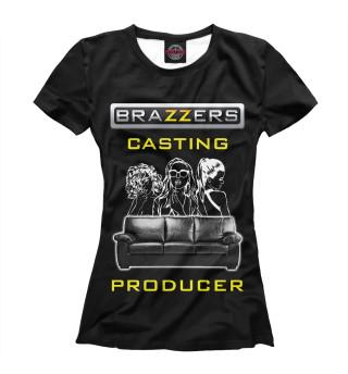 Футболка женская Кастинг-продюсер Brazzers
