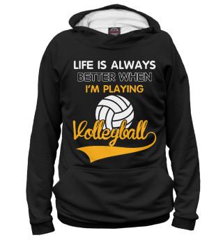 Худи мужское Волейбольная жизнь