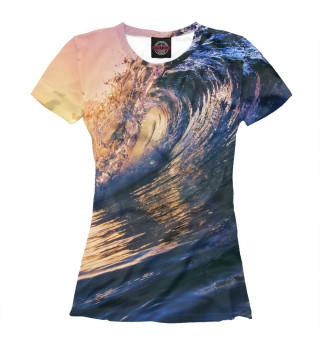 Футболка женская Морская волна