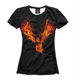 Футболка женская Огненный феникс