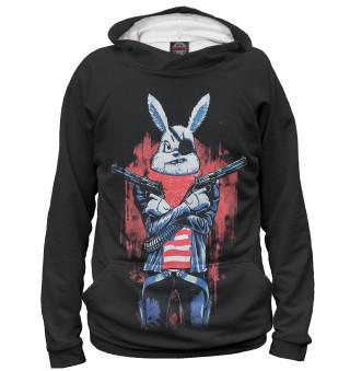 Худи женское Кролик с пистолетом
