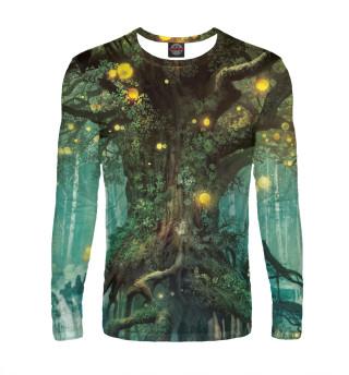 Лонгслив  мужской Волшебный лес