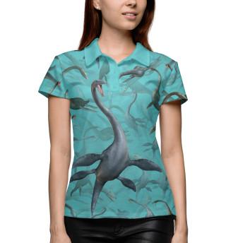 Поло женское Морские динозавры