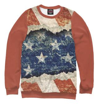 Одежда с принтом Американский флаг