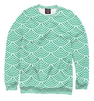 Одежда с принтом Зеленая радужка