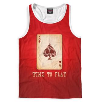 Майка борцовка мужская Покер (2641)