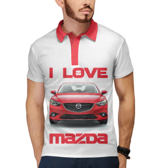 Поло мужское I love MAZDA