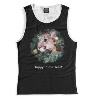 Майка для девочек Happy Puma Year! (6541)