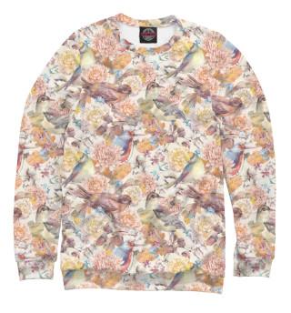 Одежда с принтом Птицы и цветы