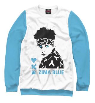Одежда с принтом Love, death + robots zima blue