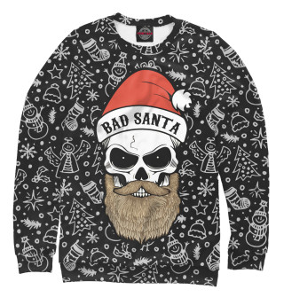 Одежда с принтом Bad Santa
