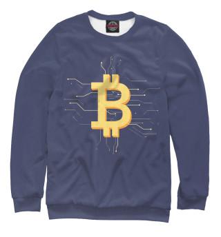 Одежда с принтом Криптовалюта биткоин