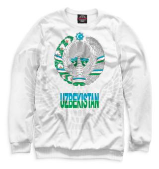 Свитшот, Футболка, Майка, Майка борцовка, Худи, Лонгслив, Маска  Узбекистан (662270)