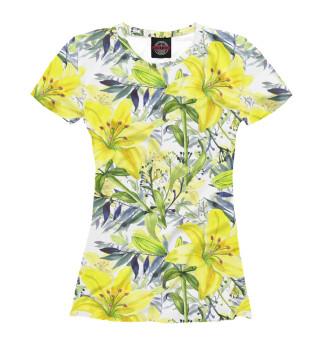 Футболка женская Жёлтые лилии