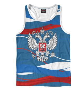 Майка борцовка мужская Герб РФ (4540)