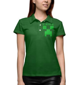Поло женское Саша - Minecraft