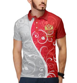 Поло мужское Узоры с гербом