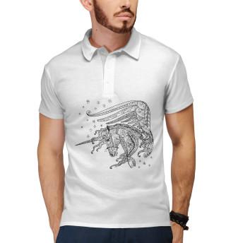 Поло мужское Единорог (4682)