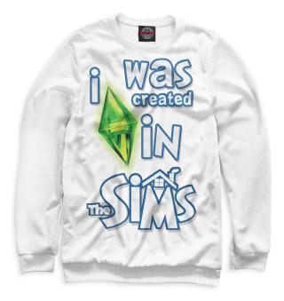 Одежда с принтом I Was Created in Sims