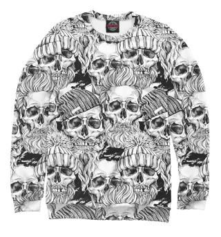 Одежда с принтом Human skulls