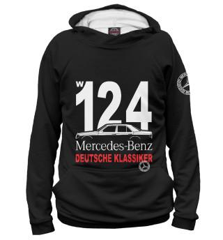 Худи женское Mercedes W124 немецкая классика