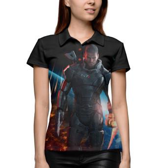 Поло женское Mass Effect — Шепард (7476)