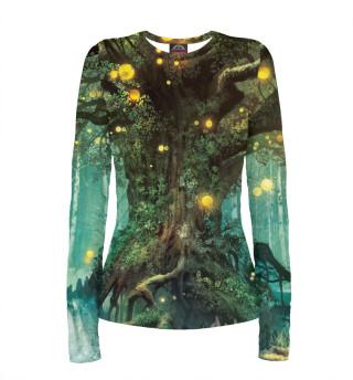 Лонгслив  женский Волшебный лес