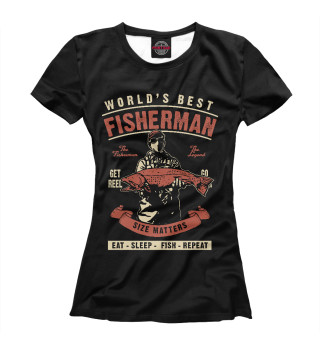 Футболка женская Лучший в мире рыбак
