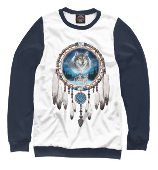 Одежда с принтом Ловец снов волки