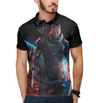 Поло мужское Mass Effect — Шепард (6736)
