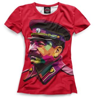 Футболка женская Сталин (8994)