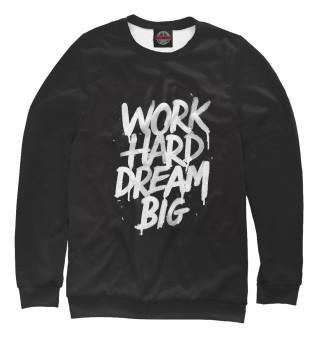 Одежда с принтом Work hard